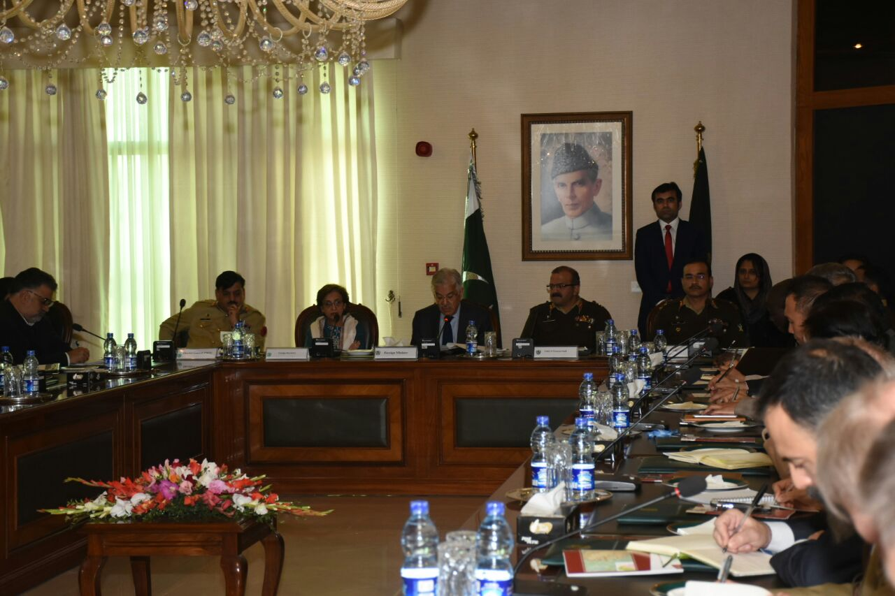 Ambassadors resident in Islamabad briefed by FM Khawaja Asif over Pakistan's counter-terrorism efforts