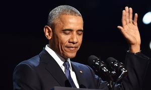 Emotional Obama comforts, encourages US in farewell speech