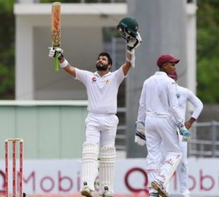 Azhar scored two centuries in the three-Test series against West Indies. PHOTO: AFP