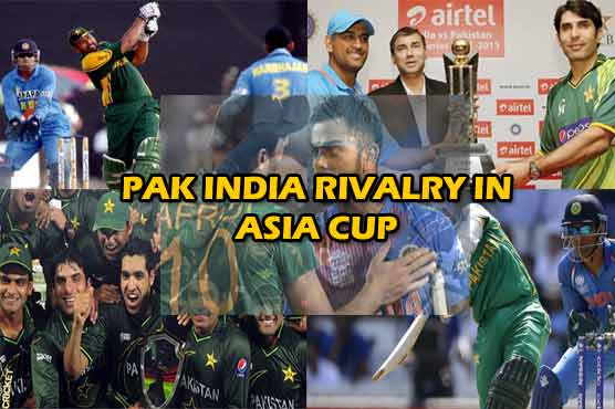 Cricket battles between Pakistan and India throughout Asia Cup 1984 to 2018