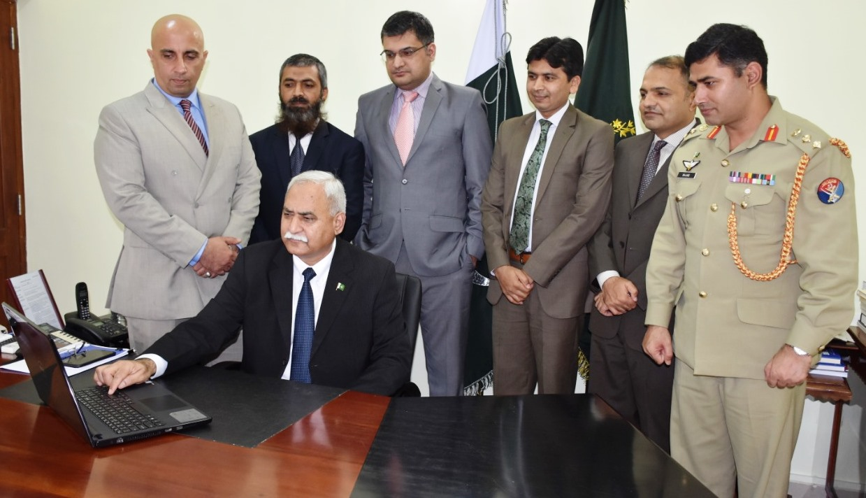 High Commissioner of Pakistan, Dr. Shahid Ahmad Hashmat re-launching the official website
